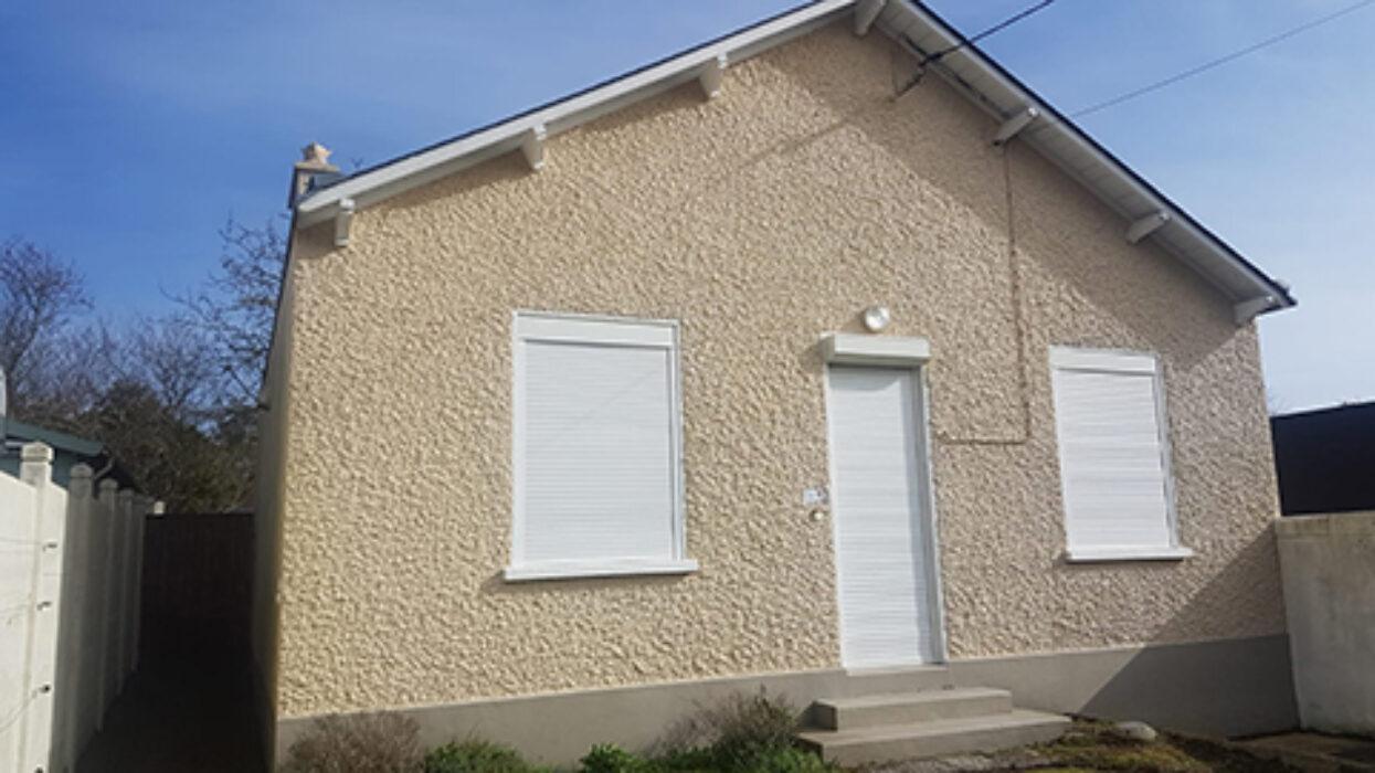 La façade de la maison